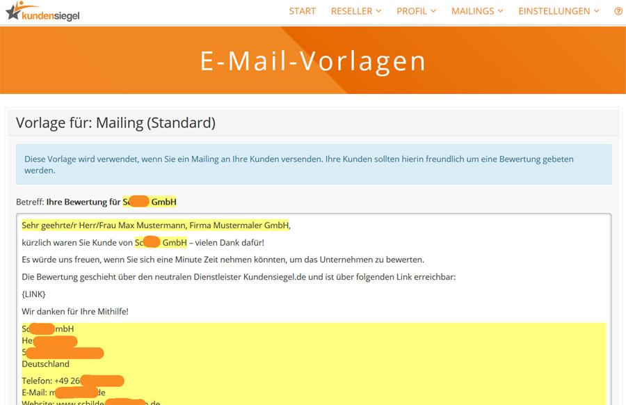 Mailingvorlagen